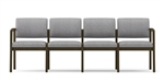 Lenox Open Arm Series: 4 Seat Sofa - Healthcare Vinyl - L4101G5