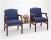 Madison Series: 2 Chairs with Connecting Center Table - M2211G5