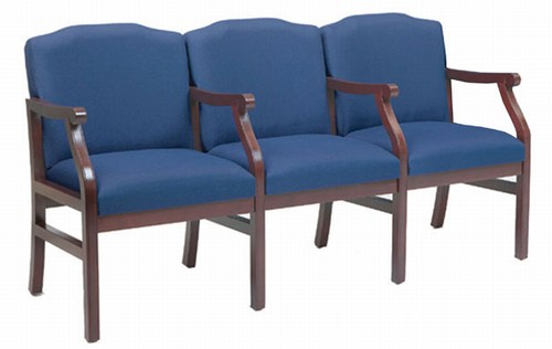 Madison Medical Office Waiting Room 3-Seat Sofa with Center Arms by Lesro -  M3203G5