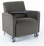 Ravenna Series: Guest Chair with Casters & Swivel Tablet from Lesro