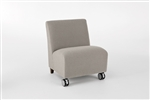 Siena Series: 500 lb. Capacity Armless Guest Chair with Casters - Q1602C3