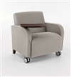 Siena Series: 500 lb. Capacity Guest Chair with Casters and Swivel Tablet - Q1631C3