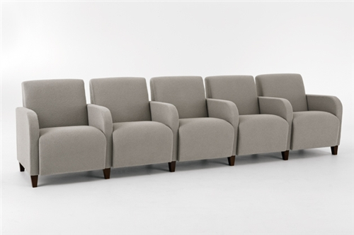 Siena Series: 5 Seat Sofa with Center Arms - Q5403G3 from Lesro ...