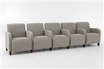 Siena Series: 5 Seat Sofa with Center Arms - Q5403G3