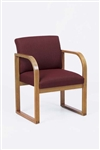 Contour Full Back Series: Sled Base Guest Chair - R1401G3