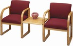 Healthcare Reception: Contour Full Back 2 Chairs with Connecting Center Table