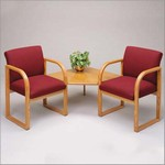 Contour Series 2 Chairs w/Connecting Corner Table