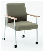 Mystic Series Guest Chair with casters from Lesro