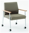 Guest Chair with Casters, 400 lb. Capacity from Lesro