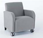 Siena Series: Guest Chair with Casters - SN1401C3