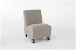 Siena Series: Armless Guest Chair with Casters - SN1402C3