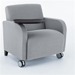 Siena Series: Guest Chair with Casters and Swivel Tablet - SN1431C3