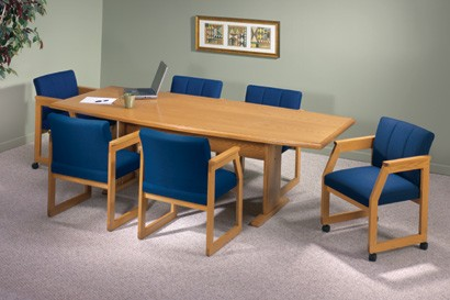 In BoatShaped Conference Table Trestle Base From Lesro - 72 conference table