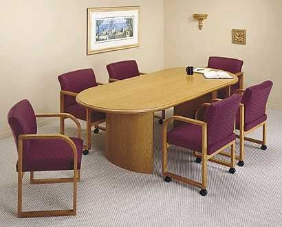 Ft Oval Conference Table With Curved Panel Base By Lesro - Oval conference table for 6