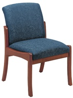 Weston Series: Armless Guest Chair - Healthcare Vinyl - W1302G5