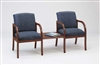Weston Series: 2 Chairs with Connecting Center Table - Healthcare Vinyl - W2311G5