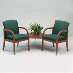 Weston Series: 2 Chairs with Connecting Corner Table - W2321G5