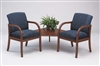 Weston Series: 2 Chairs with Connecting Corner Table - Healthcare Vinyl - W2321G5