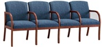 Weston Series: 4 Seats with Center Arms - Healthcare Vinyl - W4303G5