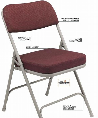 2 Quot Premium Padded Folding Chair From National Public