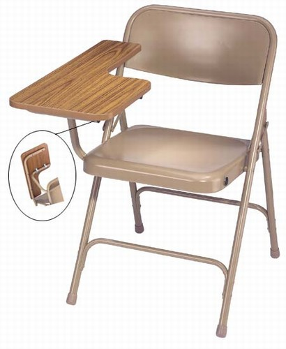 Premium Folding Chair With High Pressure Tablet Armfrom