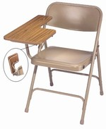 Premium Folding Chair with High-Pressure Tablet Arm