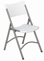 Blow Molded Folding Chair, Speckled Grey