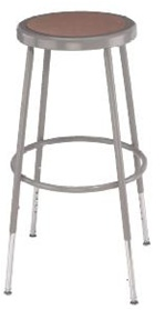 "Adjustable Height Lab Stool 25-33""H from National Public Seating"