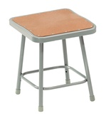 "18""H Lab Stool with Square Hardboard Seat from National Public Seating"