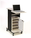 Premium Plus Presentation Cart with Storage Cabinet - PRC250
