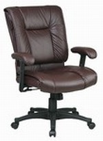 Pillow Top Deluxe Mid Back Executive Leather Chair