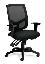 Seating to Go: Mesh Back Multi-Function Chair with Arms - OTG11769B