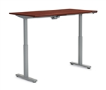"Offices to Go: 60"" x 24"" Adjustable Height Table - OTGHA6024/OTGBASE-SIL"
