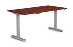 "Offices to Go: 60"" x 30"" Adjustable Height Table - OTGHA6030/OTGBASE-SIL"