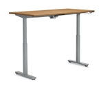 "Offices to Go: 71"" x 24"" Adjustable Height Table - OTGHA7124/OTGBASE-SIL"