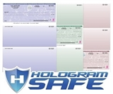 Hologram Safe Laser Checks Featuring DMV technology.