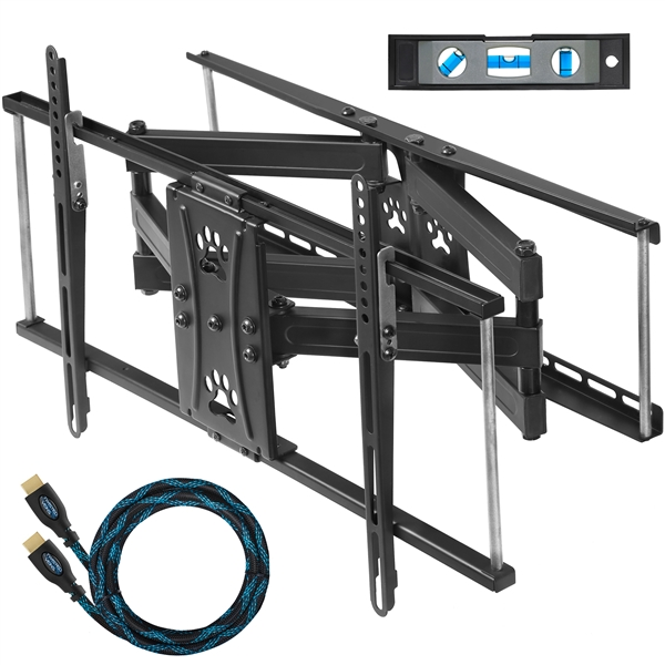 cheetah mounts apdam2b dual articulating arm 20 extension tv wall mount bracket for 32 65. Black Bedroom Furniture Sets. Home Design Ideas