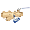 "Caleffi 121 FlowCalâ""¢ 1"" NPT female automatic flow balancing valve with integral ball valve. 121161A"