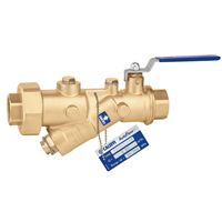 "Caleffi 121 FlowCal™ 1 ¼"" NPT female automatic flow balancing valve with integral ball valve. 121171A"