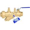 "Caleffi 121 FlowCal™ ½"" sweat (with PT test ports) automatic flow balancing valve with integral ball valve. 121349A"