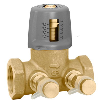 "Caleffi 142 Variable Orifice 1 ½"" NPT balancing valve. 142281A"