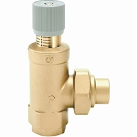 "Caleffi 1"" NPT inlet x 1"" sweat outlet Differential pressure by-pass valve 519609A"