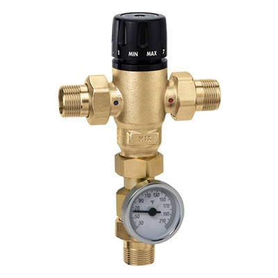 "Caleffi ½"" NPT male MixCal NPT with thermometer 521410A"