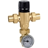 "Caleffi ¾"" sweat MixCal Sweat with inline check valve and thermometer 521519AC"