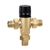 "Caleffi 1"" NPT male MixCal NPT with inline check valve 521600AC"