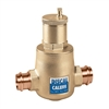 "Caleffi 1"" integral press Discal Press Air Separator with check valve 551066AC"