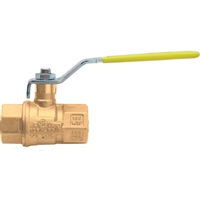 "Caleffi 1 1/4"" NPT female, drain, ball valve with lever NA39588"