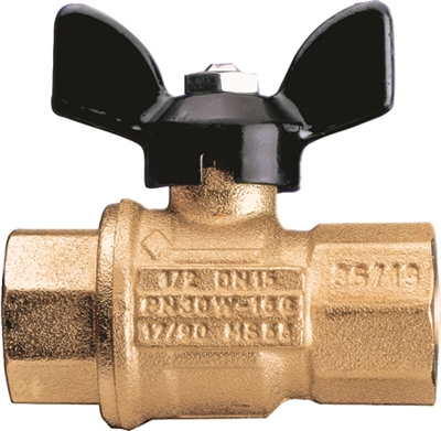 "Caleffi 3/4"" NPT female, drain, ball valve with T HANDLE NA39589"