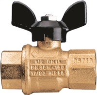 "Caleffi 1"" NPT female, drain, ball valve with T HANDLE NA39753"