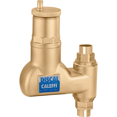 "Caleffi 3/4"" sweat Discal Vertical Air separator for vertical pipes NA551995"